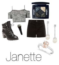 """""""High school gals -Janette"""" by ekjohnson1216 on Polyvore featuring Boohoo, Wet Seal, Christian Dior, CZ by Kenneth Jay Lane and Allurez"""