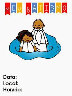 As Tontas Vão Ao Céu: Convite para Batismo de Menina