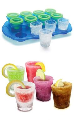Ice shot glasses! Great party idea! #product_design