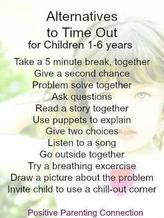 Positive alternatives to time out