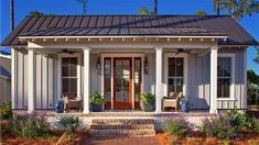 small house farm pool and ideas farmhouse plans cottage Beach Cottage Style, Coastal Cottage, Cottage Homes, Farm Cottage, Coastal Style, Coastal Living, Farm House, Nantucket Cottage, Southern Cottage