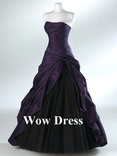 Gorgeous Purple Evening Dress/ Black Ball Gown/ Formal by WowDress, $138.00