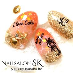 Hermitage (ネイル)|ネイル画像数国内最大級のgirls pic(ガールズピック) Spring Nails, Summer Nails, Love Nails, Fun Nails, Japanese Nail Art, Beach Nails, Beauty Guide, Toe Nail Designs, Nail Art Stickers