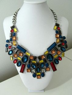 Bib Statement Alloy Geometric Crystal Rhinestones Chunky Necklace Collar  #Necklace Makes a great gift. #help #retweet #follow #repin http://stores.ebay.com/jewelryandthingsroseandersen5?_rdc=1