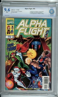 Alpha Flight #16 (Marvel Comics) CBCS Graded 9.6 NM+ Big Hero 6 Cover