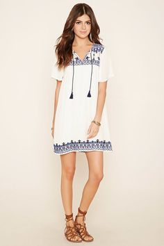 Embroidered Shift Dress | Forever 21 - 2000205944