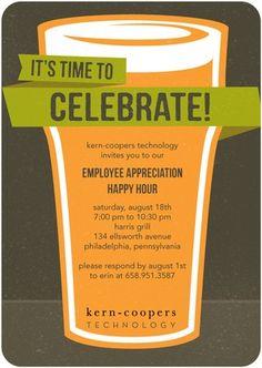 Corporate Event Invitations Celebratory Beverage - Front : Dark Gray