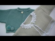 CHAQUETAS LAGUERTHA - YouTube Baby Knitting Patterns, Knitting For Kids, Knitting For Beginners, Knitting Designs, Baby Cardigan, Baby Pullover, Baby Vest, Crochet Baby Shoes, Baby Blanket Crochet