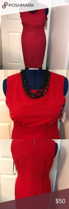 Calvin Klein dress This is for a brand new dress by Calvin Klein in a size 12. This was paired with a necklace from my closet as well that is available for purchase. Thanks for looking and happy shopping. Calvin Klein Dresses Midi