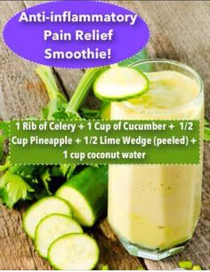 3 Super Healthy and Healing Smoothie Recipes Anti-inflammatory Pain Relief Smoothie! Healthy Juices, Healthy Smoothies, Healthy Drinks, Green Smoothies, Smoothies With Coconut Water, Pineapple Smoothies, Simple Smoothies, Nutrition Drinks, Healthy Shakes