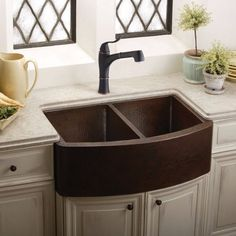 Exceptional Kitchen Remodeling Choosing a New Kitchen Sink Ideas. Marvelous Kitchen Remodeling Choosing a New Kitchen Sink Ideas. Copper Farm Sink, Copper Farmhouse Sinks, Copper Kitchen, New Kitchen, Copper Sinks, Kitchen Ideas, Metal Sink, Cozy Kitchen, Pantry Ideas