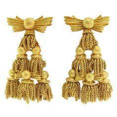 Tiffany & Co. Ribbon Bow & Tassel Earring