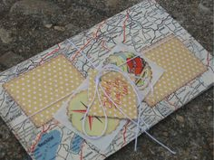 envelopes made from upcycled vintage map