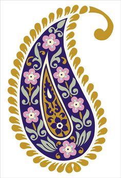Узоры - Oksana Volkova - Álbuns da web do Picasa Motif Paisley, Paisley Art, Paisley Design, Paisley Pattern, Pattern Art, Print Patterns, Flower Art Images, Oriental Pattern, Plate Art