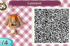 ACNL QR CODE-Cable knit sweater with camera