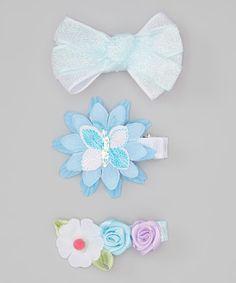 Turquoise Daisy Salon Clip Set