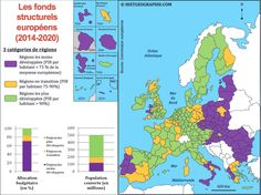 L'aide de l'Union européenne par les fonds structurels (2014-2020). Source: © HISTGEOGRAPHIE.COM, d'après Commission européenne