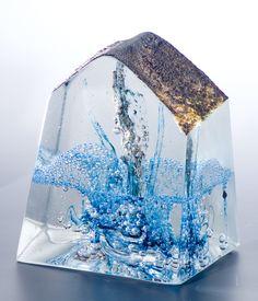 Blue Ocean by artist Ewa Wawrzyniak. This sculpture is created using a technique called 'sand-casting'.