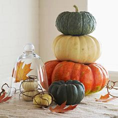 #Pumpkins, a #fall classic! More decorating ideas: http://www.bhg.com/decorating/seasonal/autumn/fall-harvest-decorating-ideas/