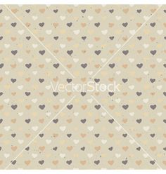 Free seamless hearts pattern vector by pashabo on VectorStock®