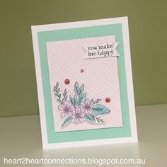 An adorable card featuring the January Stamp of the Month from http://heart2heartconnections.blogspot.com.au