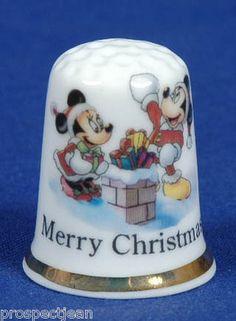mickey christmas thimble