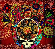 Paisley your face Hippie Peace, Hippie Art, Horror Pictures, Horror Pics, Phil Lesh And Friends, Grateful Dead Poster, Jerry Garcia Band, Dead And Company, Forever Grateful