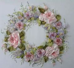 The magnificent beauty of embroidery ribbons!