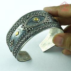 Unique Design 925 Sterling Silver Oxidised Bangle Jewelry P3338…