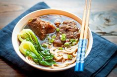 This year is not so cold, we are still enjoy the double digit temperatures in November. This flavorful beef noodle soup will add even more w...
