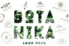 BOTANIKA Logo Pack by Graphic Dash on @creativemarket
