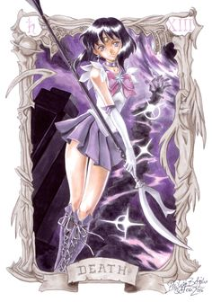Death (XIII) is the thirteenth card in most traditional Tarot decks. When Sailor Saturn wakes up Pharaoh end was near. The Master of the Death Bust. Sailor Moons, Sailor Moon Manga, Sailor Saturn, Sailor Neptune, Sailor Moon Art, Tomoe, Sailor Scouts, Goddess Of Destruction, Sailor Moon Kristall