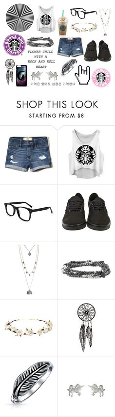 """Untitled #224"" by slytheringirl1033 ❤ liked on Polyvore featuring Hollister Co., Vans, Aéropostale, Stella & Dot, Cult Gaia, Bling Jewelry and Dogeared"