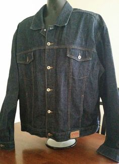 EUC VTG Guess USA Mens Size 3XL XXXL Dark Denim Jacket Coat OG Hip Hop! #GUESSUSA #DenimJacket