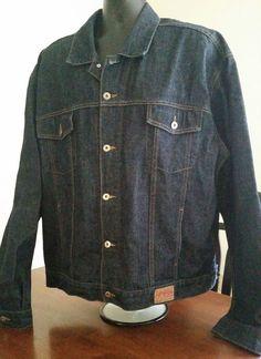EUC VTG Guess USA Mens Size 3XL XXXL Dark Denim Jacket Coat OG Hip Hop! #GUESSUSA #DenimJacket