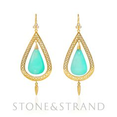 Crown Work and Agate Earrings by Ray Griffiths, available exclusively at www.stoneandstrand.com