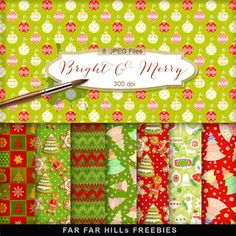 New Freebies Backgrounds Kit - Bright & Merry:Far Far Hill - Free database of digital illustrations and papers Digital Scrapbook Paper, Printable Scrapbook Paper, Papel Scrapbook, Printable Paper, Scrapbook Cards, Digital Papers, December Daily, Christmas Scrapbook Paper, Mushroom Crafts