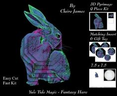 Because We Love Furrys Electric Fantasy Hare Insert Tag on Craftsuprint - Add To Basket!