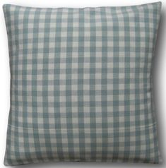 """Cushion Cover Handmade With Laura Ashley's Duck Egg Blue Gingham 14"""" Scatter"""