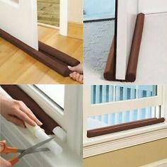Twin Draft Door Guard Stopper Wind Dust Blocker Sealer Insulator Door Windows #fashion #home #garden #homedcor #doorstops (ebay link)