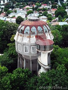 Water Tower, Aerial Photography, Aerial View, Romania, To Go, Outdoor Structures, Stock Photos, Trees, Spaces