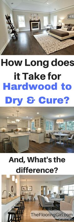How long does it take polyurethane to dry and cure? And, what's the difference?  How long should you wait after you sand and refinish your hardwood flooring?