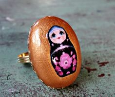 Hand-crafted Nesting Doll Ring <3