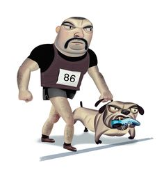 The Polite Runner's guide to Race Etiquette by Nigel Buchanan, via Behance