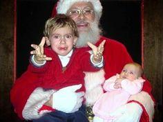 Priceless Kodak (err Instagram) Moments - Photos of Santa Scaring the $h!+ Out of Kids - #xmas #santa