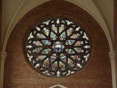 Brussels, Belgium: Eglise St-Sacrement: rose window