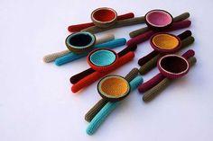 Broches de ganchillo: Fotos de diseños - Originales modelos de broches de ganchillo