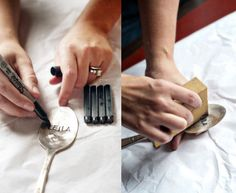 Make your own hammered spoons