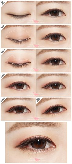 48 Ideas eye tutorial asian makeup looks for 2019 48 Ideen Auge Tutorial asiatischen Make-up s Korean Makeup Look, Korean Makeup Tips, Korean Makeup Tutorials, Asian Makeup, Korean Natural Makeup, Korean Makeup Tutorial Natural, Simple Makeup Tutorial, Ulzzang Makeup Tutorial, Eye Tutorial