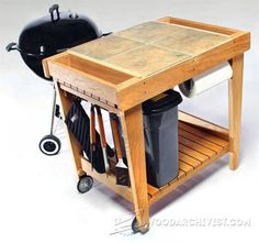 Grill Cart Plans - Outdoor Furniture Plans & Projects | WoodArchivist.com